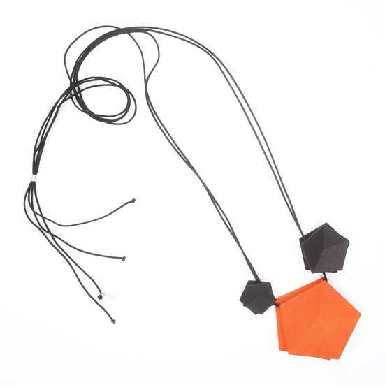 Vertigo 3 element Necklace - tangerine