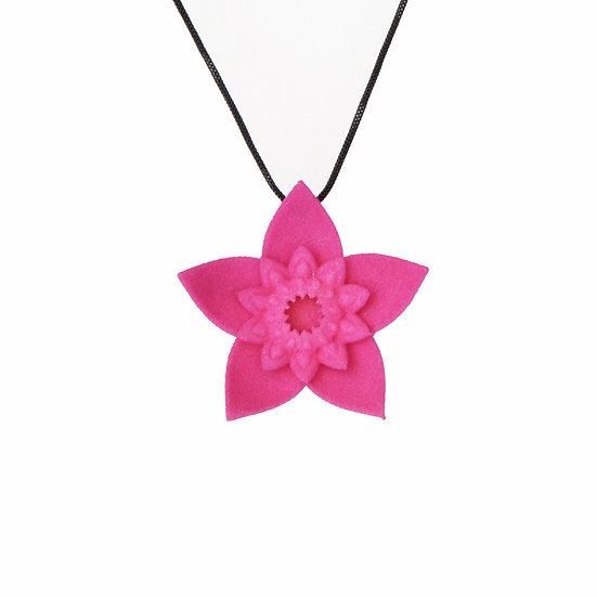 DAHLIA - pendant -Fuchsia