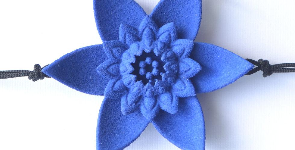 DAHLIA - bracciale fiore - Blu
