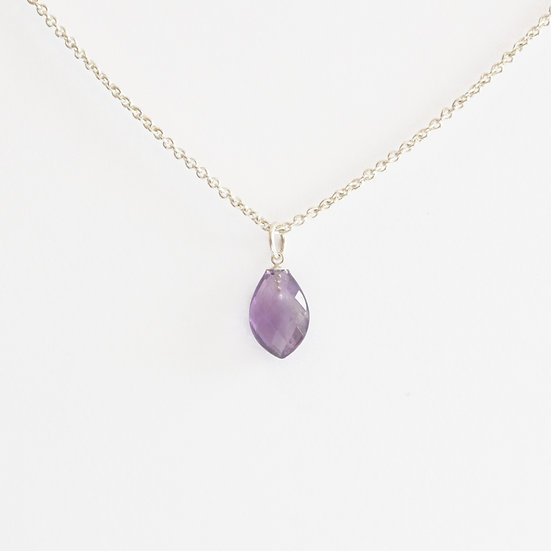 petal shaped amethyst pendant