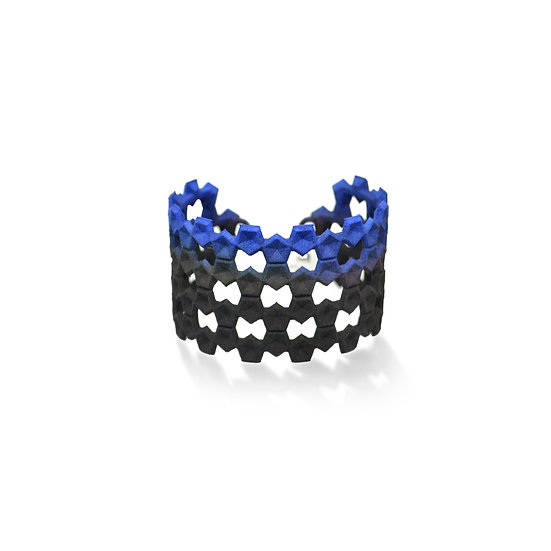 LACE Bangle - Black & blue