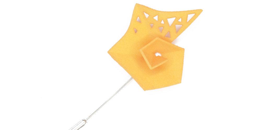 Pinwheel Brooch - Citrus yellow