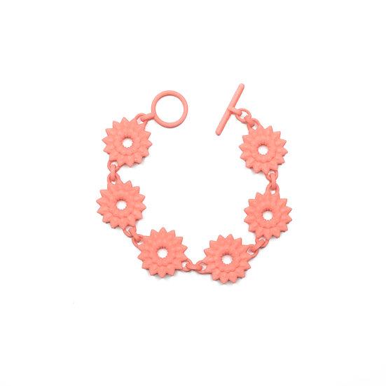 floral chain bracelet