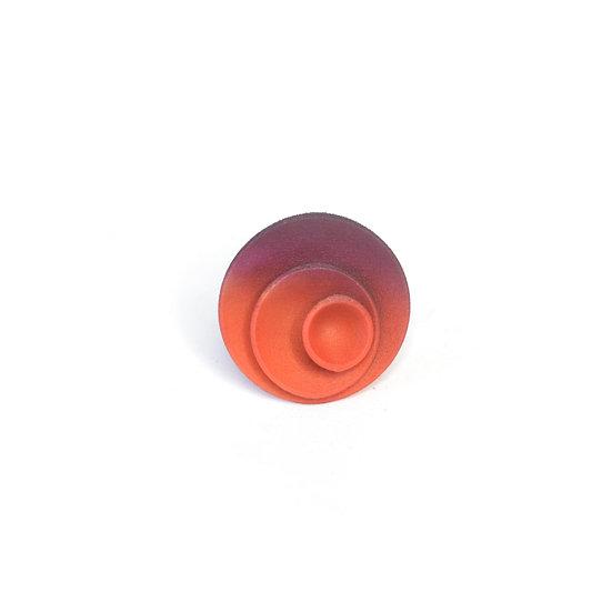 Round ring - Tangerine & plum
