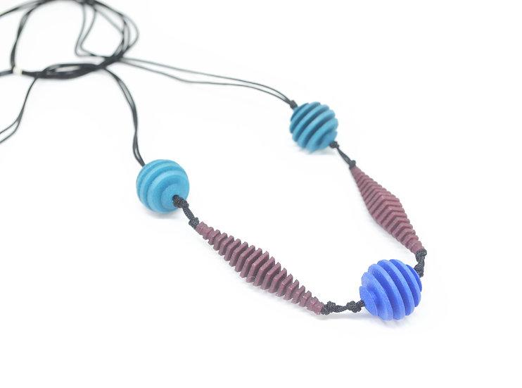 OPTICAL - Necklace - Midtone colours