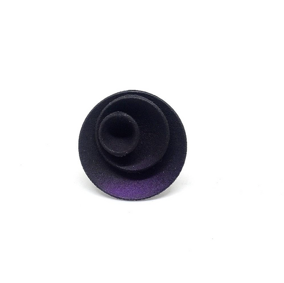 OUTLET - Round ring - Puple Black