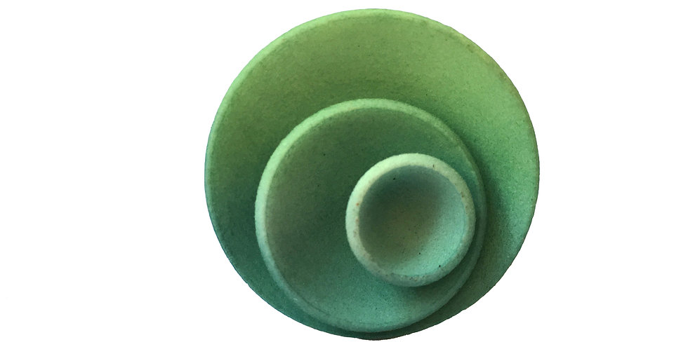 OUTLET - Round ring - Green