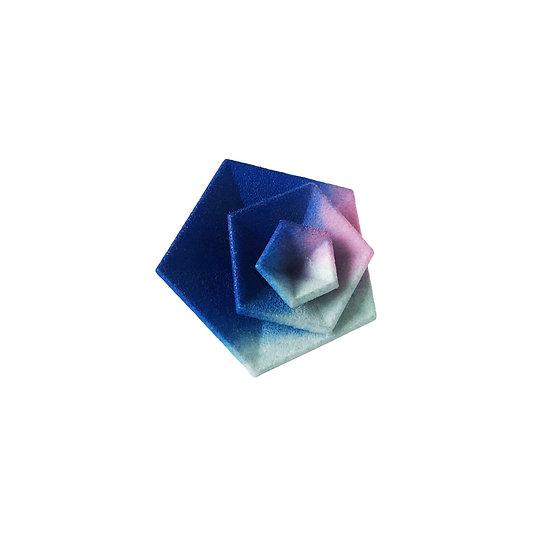 OUTLET - Anello Vertigo - Azzurro rosa acqua
