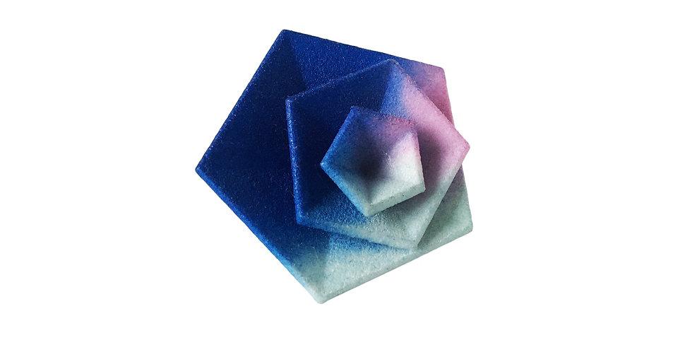 OUTLET - Vertigo ring - Blue pink aqua