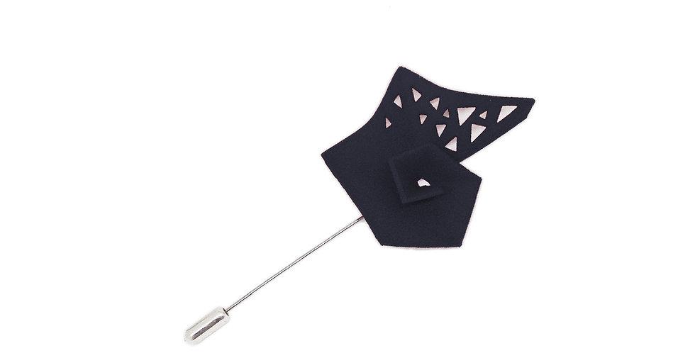 Pinwheel Brooch - Black