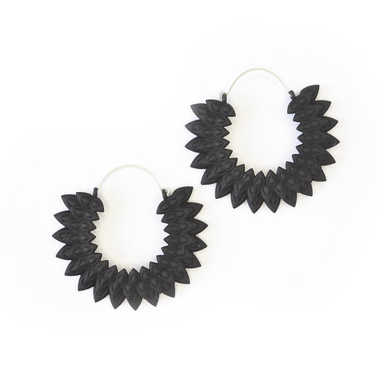 Dahlia earrings - Black