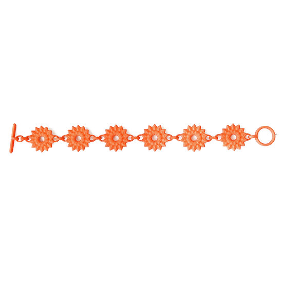 luxury designer chain bracelet boho gypsy style in lovely tangerine orange colour