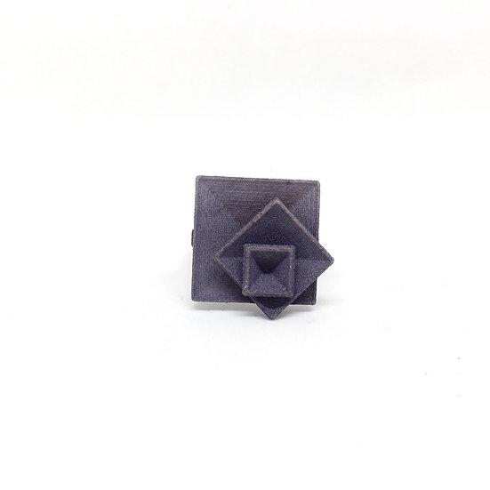 OUTLET - Anello quadrato - Grigio