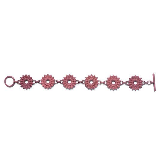 DAHLIA - chain bracelet - Plum