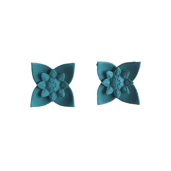 large designer studs in 3D printed nylon teal colour