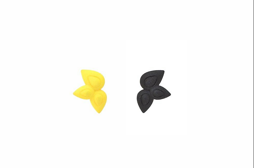 OUTLET seeds earrings - Black Yellow