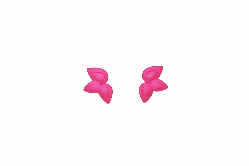 hot pink small flower earrings