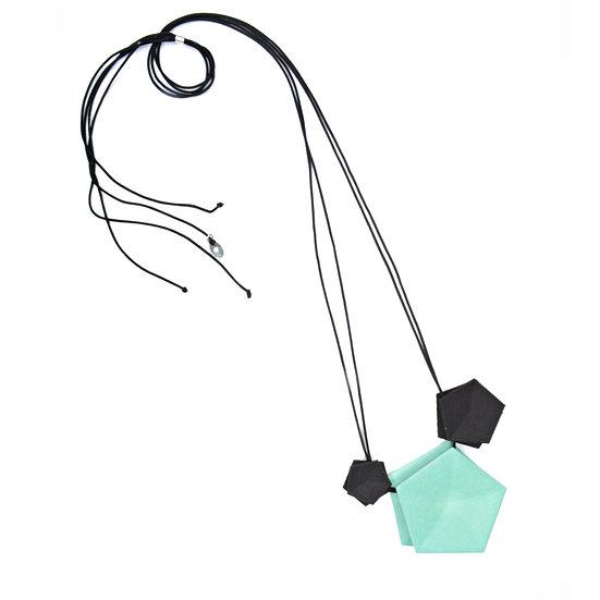 Vertigo 3 element Necklace - aqua