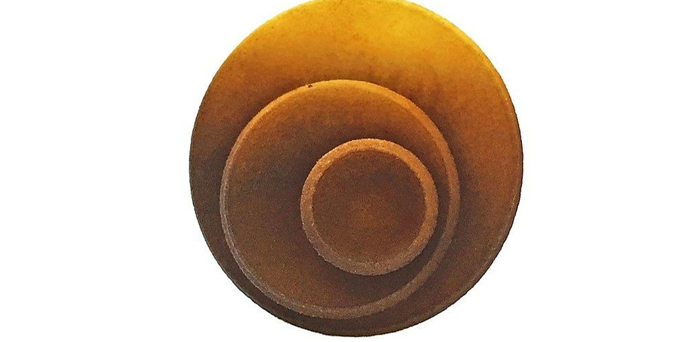 OUTLET - Round ring - Brown & Yellow