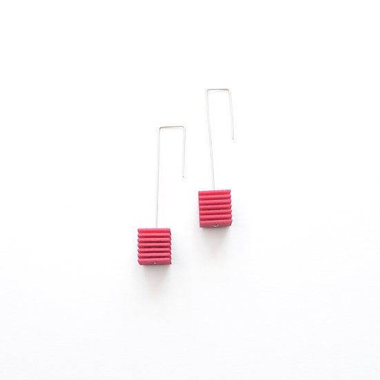 hot pink handmade fashion earrings