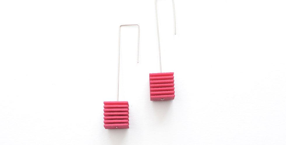 hot pink handmade fashion earrings