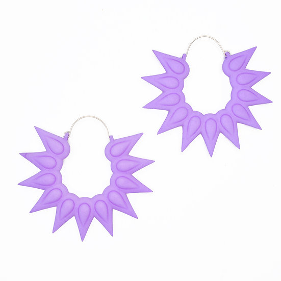 lilac purple giant hoops