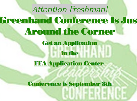 Greenhand Conference Applications now Available
