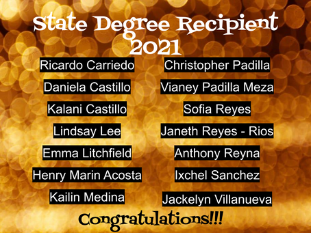 State Degree Recipents