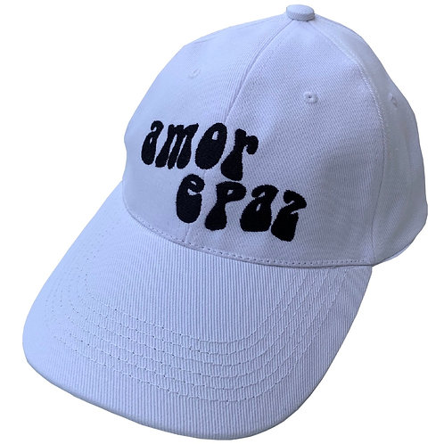 WHITE/BLACK BASEBALL CAP