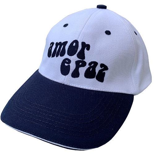 WHITE/NAVY BASEBALL CAP