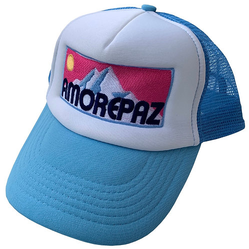 SKY BLUE MOUNTAIN TRUCKER CAP