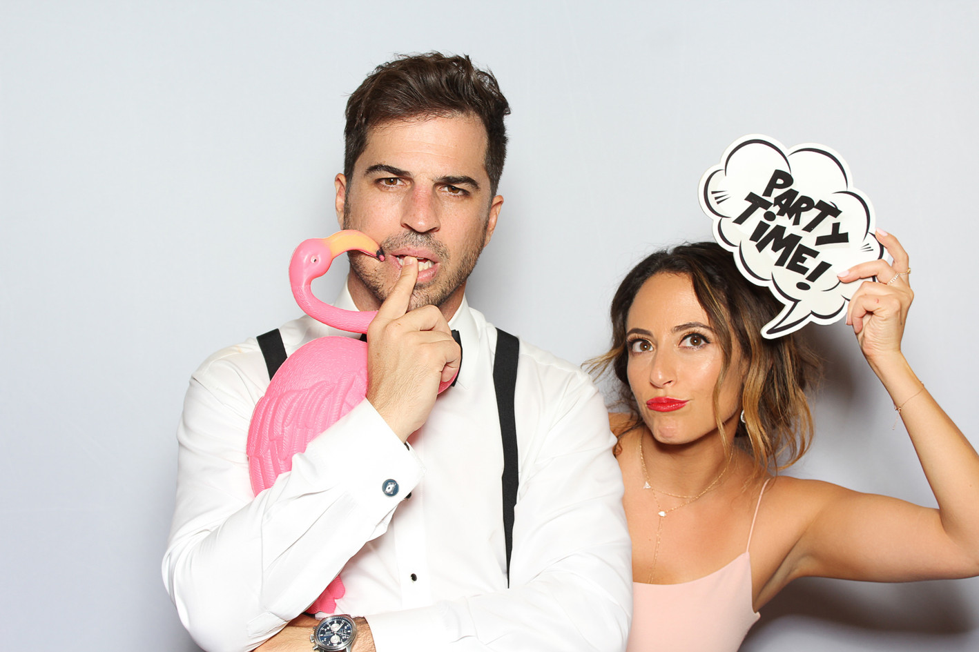 The Booth & Bus Co. - White Stretch Backdrop Photo Booth