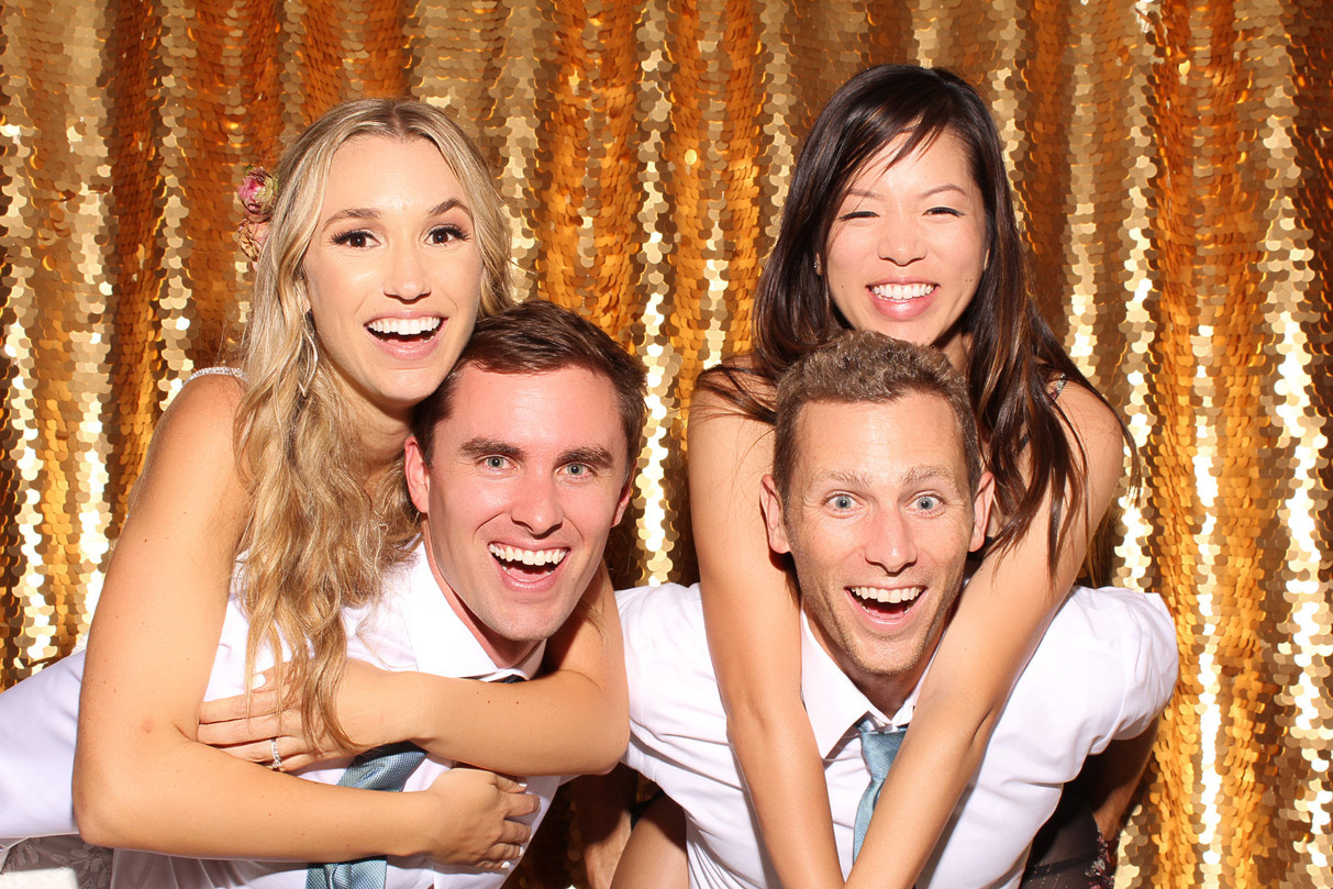 The Booth & Bus Co. - Gold Sequined Backdrop Photo Booth