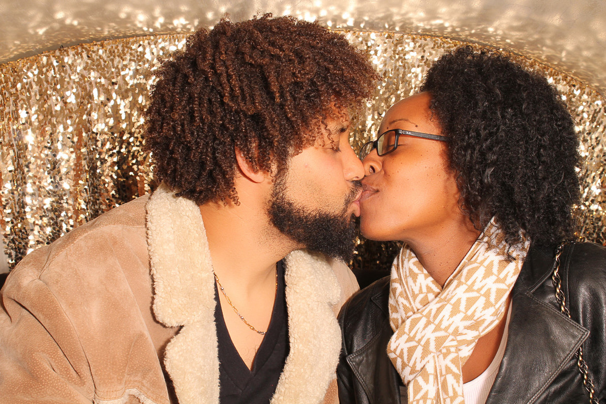 Kissing in the Photo Bus