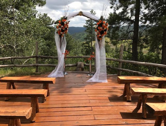 Log benches for guests
