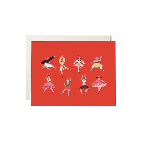 "RED CAP CARDS  ""BIRTHDAY DANCERS"""