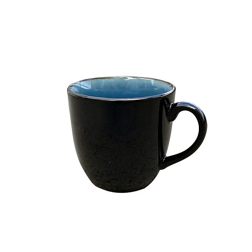 BLACK AND BLUE  TABLE WARE - MUG CUP -