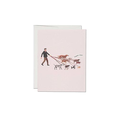 """RED CAP CARDS  """"DOG WALKER"""""""