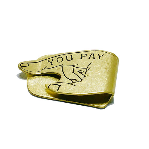 BUTTON WORKS  You Pay Money Clip ボタンワークス マネークリップ