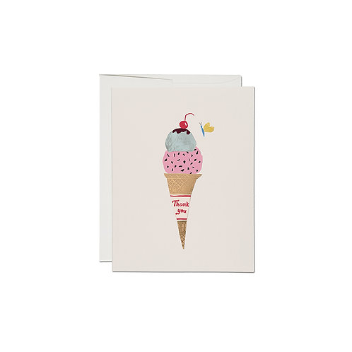 "RED CAP CARDS  ""ICE CREAM CONE"""