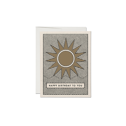 "RED CAP CARDS  ""SUNSHINE BIRTHDAY"""