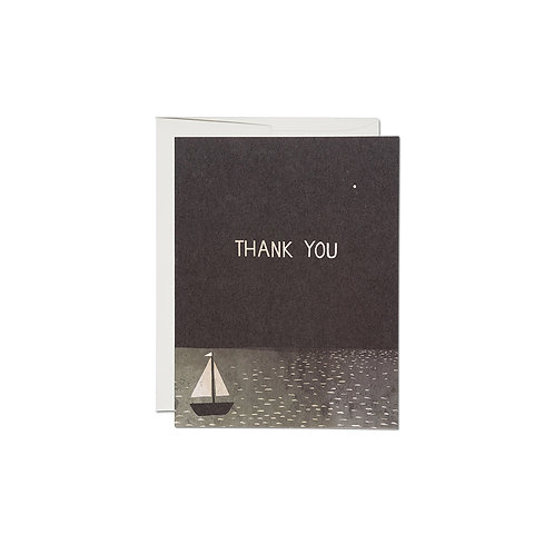 """RED CAP CARDS  """"BOAT THANK YOU"""""""