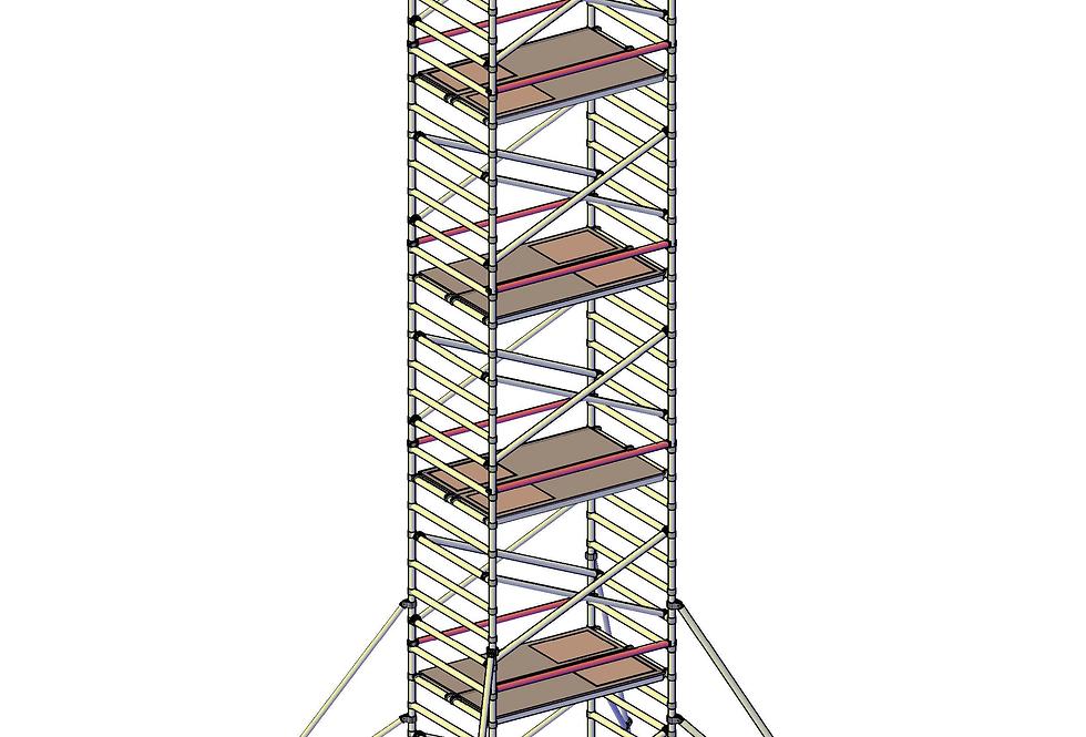 פיגום רחב 135 סמ - גובה 10 מטר דריכה