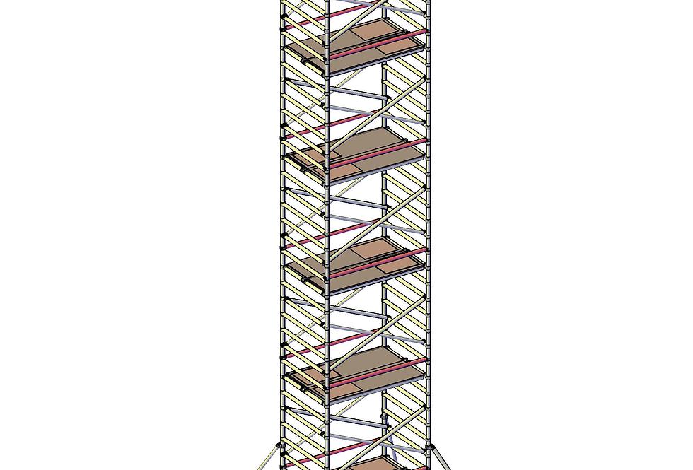 פיגום רחב 135 סמ - גובה 12 מטר דריכה