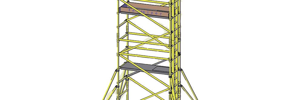 פיגום פיברגלס 4.2 מטר
