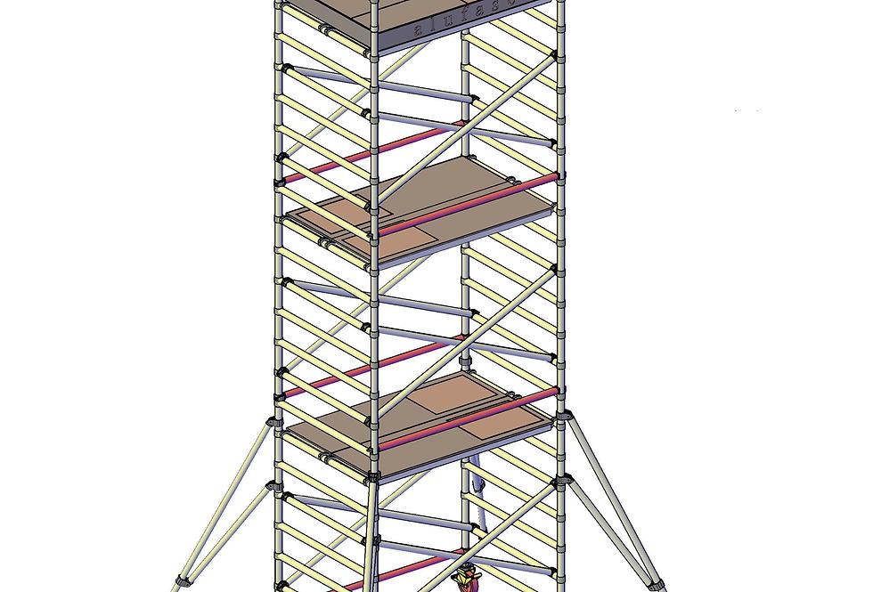 פיגום רחב 135 סמ - גובה 6 מטר דריכה