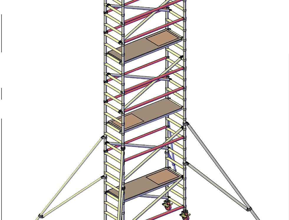 פיגום רוחב סטנדרטי 74 סמ - גובה דריכה 8 מטר
