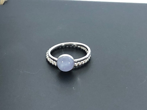 Blue Lace Agate stacking ring set