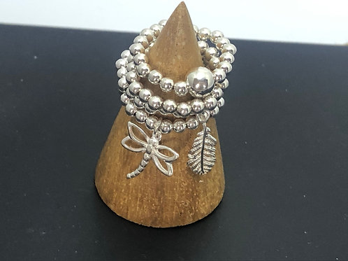 Charm Stretch Ring - stackable