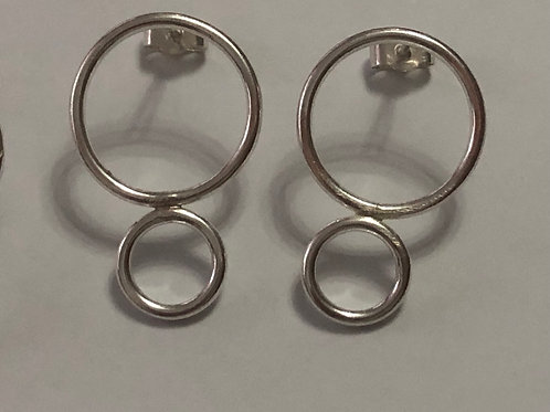Smooth Double Circle Earrings
